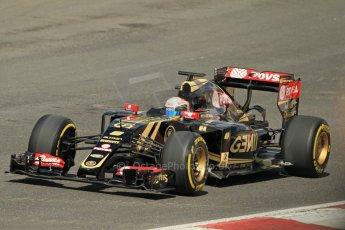 World © Octane Photographic Ltd. Lotus F1 Team E23 Hybrid - Romain Grosjean. Lotus filming day at Brands Hatch. Digital Ref: 1238LW1L4999