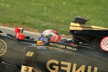 World © Octane Photographic Ltd. Lotus F1 Team E23 Hybrid - Romain Grosjean. Lotus filming day at Brands Hatch. Digital Ref: 1238LW1L5008