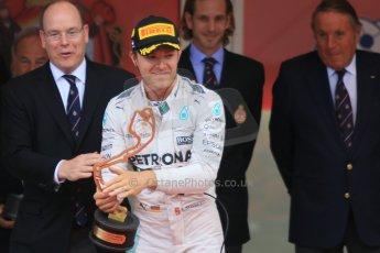 World © Octane Photographic Ltd. Mercedes AMG Petronas F1 W06 Hybrid – Nico Rosberg. Sunday 24th May 2015, F1 Race - Podium, Monte Carlo, Monaco. Digital Ref: 1287CB7D8123