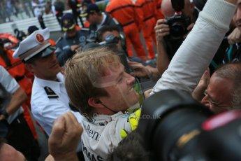 World © Octane Photographic Ltd. Mercedes AMG Petronas F1 W06 Hybrid – Nico Rosberg. Sunday 24th May 2015, F1 Race - Podium, Monte Carlo, Monaco. Digital Ref: 1287LB1D8507