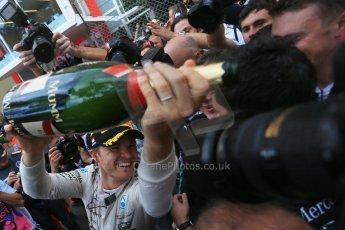 World © Octane Photographic Ltd. Mercedes AMG Petronas F1 W06 Hybrid – Nico Rosberg. Sunday 24th May 2015, F1 Race - Podium, Monte Carlo, Monaco. Digital Ref: 1287LB1D8603