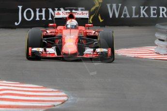 World © Octane Photographic Ltd. Scuderia Ferrari SF15-T– Sebastian Vettel. Thursday 21st May 2015, F1 Practice 2, Monte Carlo, Monaco. Digital Ref: 1274CB7D3532