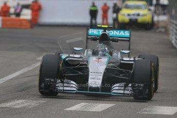 World © Octane Photographic Ltd. Mercedes AMG Petronas F1 W06 Hybrid – Nico Rosberg. Thursday 21st May 2015, F1 Practice 2, Monte Carlo, Monaco. Digital Ref: 1274CB7D3592
