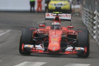 World © Octane Photographic Ltd. Scuderia Ferrari SF15-T– Kimi Raikkonen. Thursday 21st May 2015, F1 Practice 2, Monte Carlo, Monaco. Digital Ref: 1274CB7D3641