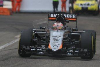World © Octane Photographic Ltd. Sahara Force India VJM08 – Nico Hulkenberg. Thursday 21st May 2015, F1 Practice 2, Monte Carlo, Monaco. Digital Ref: 1274CB7D3695