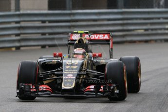World © Octane Photographic Ltd. Lotus F1 Team E23 Hybrid – Pastor Maldonado. Thursday 21st May 2015, F1 Practice 2, Monte Carlo, Monaco. Digital Ref: 1274CB7D3722