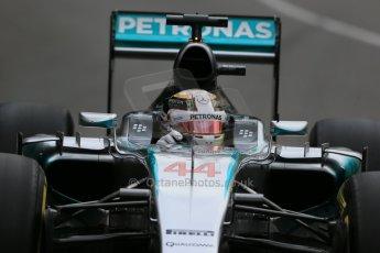 World © Octane Photographic Ltd. Mercedes AMG Petronas F1 W06 Hybrid – Lewis Hamilton. Thursday 21st May 2015, F1 Practice 2, Monte Carlo, Monaco. Digital Ref: 1274LB1D3921