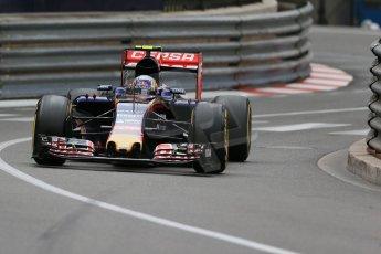 World © Octane Photographic Ltd. Scuderia Toro Rosso STR10 – Carlos Sainz Jnr. Thursday 21st May 2015, F1 Practice 2, Monte Carlo, Monaco. Digital Ref: 1274LB1D3926