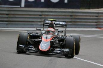 World © Octane Photographic Ltd. McLaren Honda MP4/30 - Jenson Button. Thursday 21st May 2015, F1 Practice 2, Monte Carlo, Monaco. Digital Ref: 1274LB1D3950