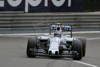 World © Octane Photographic Ltd. Williams Martini Racing FW37 – Valtteri Bottas. Thursday 21st May 2015, F1 Practice 2, Monte Carlo, Monaco. Digital Ref: 1274LB1D3971