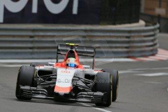 World © Octane Photographic Ltd. Manor Marussia F1 Team MR03 – Roberto Merhi. Thursday 21st May 2015, F1 Practice 2, Monte Carlo, Monaco. Digital Ref: 1274LB1D4008