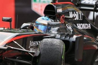 World © Octane Photographic Ltd. McLaren Honda MP4/30 – Fernando Alonso. Thursday 21st May 2015, F1 Practice 2, Monte Carlo, Monaco. Digital Ref: 1274LB1D4120