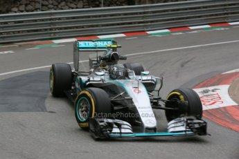 World © Octane Photographic Ltd. Mercedes AMG Petronas F1 W06 Hybrid – Nico Rosberg. Thursday 21st May 2015, F1 Practice 2, Monte Carlo, Monaco. Digital Ref: 1274LB5D2984