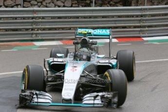 World © Octane Photographic Ltd. Mercedes AMG Petronas F1 W06 Hybrid – Nico Rosberg. Thursday 21st May 2015, F1 Practice 2, Monte Carlo, Monaco. Digital Ref: 1274LB5D3046
