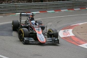 World © Octane Photographic Ltd. McLaren Honda MP4/30 – Fernando Alonso. Thursday 21st May 2015, F1 Practice 2, Monte Carlo, Monaco. Digital Ref: 1274LB5D3051