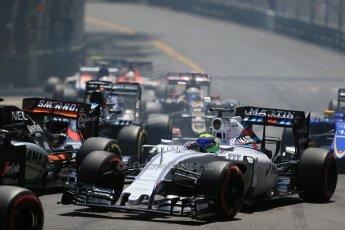 World © Octane Photographic Ltd. Williams Martini Racing FW37 – Felipe Massa. Sunday 24th May 2015, F1 Race, Monte Carlo, Monaco. Digital Ref: 1286LB1D8128