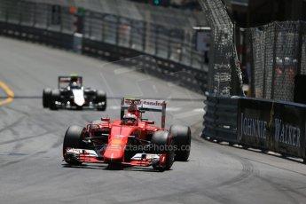 World © Octane Photographic Ltd. Scuderia Ferrari SF15-T– Kimi Raikkonen. Sunday 24th May 2015, F1 Race, Monte Carlo, Monaco. Digital Ref: 1286LB1D8182
