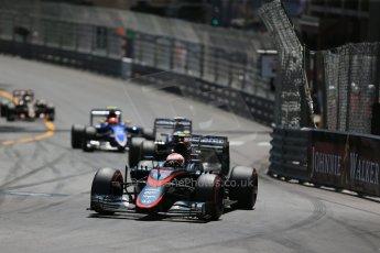 World © Octane Photographic Ltd. McLaren Honda MP4/30 - Jenson Button. Sunday 24th May 2015, F1 Race, Monte Carlo, Monaco. Digital Ref: 1286LB1D8202