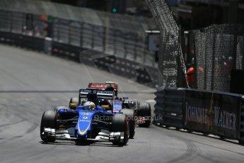 World © Octane Photographic Ltd. Sauber F1 Team C34-Ferrari – Marcus Ericsson. Sunday 24th May 2015, F1 Race, Monte Carlo, Monaco. Digital Ref: 1286LB1D8304