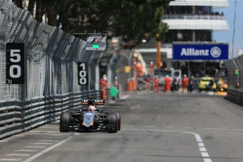 World © Octane Photographic Ltd. Sahara Force India VJM08 – Nico Hulkenberg. Sunday 24th May 2015, F1 Race, Monte Carlo, Monaco. Digital Ref: 1286LB1D8317