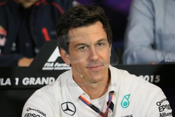 World © Octane Photographic Ltd. Mercedes AMG Petronas Executive Director – Toto Wolff. Thursday 21st May 2015, FIA Team Personnel Press Conference, Monte Carlo, Monaco. Digital Ref: 1276LB1D4263