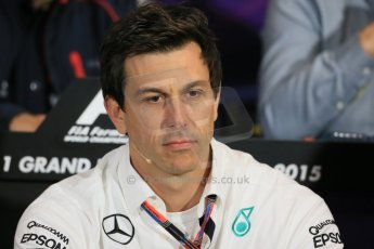 World © Octane Photographic Ltd. Mercedes AMG Petronas Executive Director – Toto Wolff. Thursday 21st May 2015, FIA Team Personnel Press Conference, Monte Carlo, Monaco. Digital Ref: 1276LB1D4271