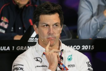 World © Octane Photographic Ltd. Mercedes AMG Petronas Executive Director – Toto Wolff. Thursday 21st May 2015, FIA Team Personnel Press Conference, Monte Carlo, Monaco. Digital Ref: 1276LB1D4289