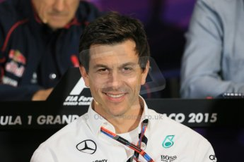 World © Octane Photographic Ltd. Mercedes AMG Petronas Executive Director – Toto Wolff. Thursday 21st May 2015, FIA Team Personnel Press Conference, Monte Carlo, Monaco. Digital Ref: 1276LB1D4344