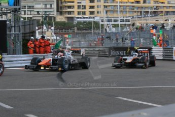World © Octane Photographic Ltd. Thursday 21st May 2015. Trident – Raffaele Marciello and Hilmer Motorsport – Johnny Cecotto. GP2 Qualifying – Monaco, Monte-Carlo. Digital Ref. : 1275CB7D3749