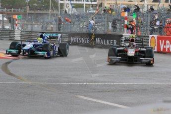 World © Octane Photographic Ltd. Thursday 21st May 2015. Carlin – Julian Leal and Rapax – Robert Visoiu. GP2 Qualifying – Monaco, Monte-Carlo. Digital Ref. : 1275CB7D3914