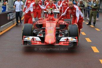 World © Octane Photographic Ltd. Scuderia Ferrari SF15-T. Thursday 21st May 2015, F1 Practice 1, Monte Carlo, Monaco. Digital Ref: 1272CB1L9477
