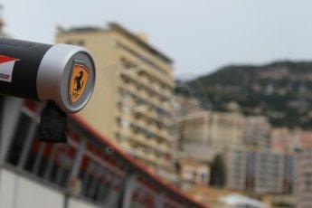 World © Octane Photographic Ltd. Scuderia Ferrari rigging detail. Thursday 21st May 2015, F1 Practice 1, Monte Carlo, Monaco. Digital Ref: 1272CB1L9495