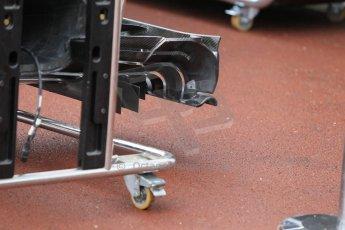 World © Octane Photographic Ltd. McLaren Honda MP4/30 front wing detail. Thursday 21st May 2015, F1 Practice 1, Monte Carlo, Monaco. Digital Ref: 1272CB1L9502