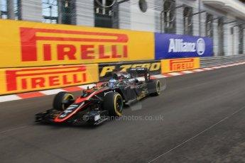 World © Octane Photographic Ltd. McLaren Honda MP4/30 – Fernando Alonso. Thursday 21st May 2015, F1 Practice 1, Monte Carlo, Monaco. Digital Ref: 1272CB1L9709
