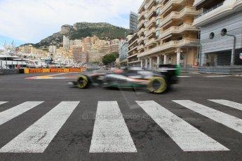 World © Octane Photographic Ltd. Sahara Force India VJM08 – Nico Hulkenberg. Thursday 21st May 2015, F1 Practice 1, Monte Carlo, Monaco. Digital Ref: 1272CB1L9758