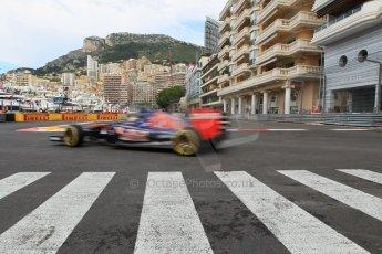 World © Octane Photographic Ltd. Scuderia Toro Rosso STR10 – Max Verstappen. Thursday 21st May 2015, F1 Practice 1, Monte Carlo, Monaco. Digital Ref: 1272CB1L9774