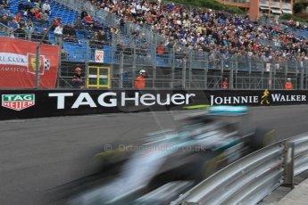 World © Octane Photographic Ltd. Mercedes AMG Petronas F1 W06 Hybrid – Nico Rosberg. Thursday 21st May 2015, F1 Practice 1, Monte Carlo, Monaco. Digital Ref: 1272CB1L9784
