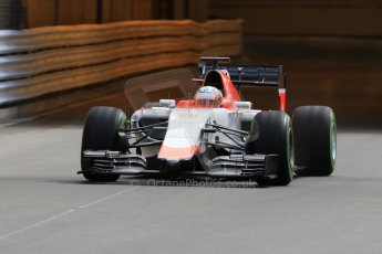 World © Octane Photographic Ltd. Manor Marussia F1 Team MR03 – William Stevens. Thursday 21st May 2015, F1 Practice 1, Monte Carlo, Monaco. Digital Ref: 1272CB7D2701
