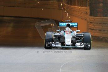 World © Octane Photographic Ltd. Mercedes AMG Petronas F1 W06 Hybrid – Lewis Hamilton. Thursday 21st May 2015, F1 Practice 1, Monte Carlo, Monaco. Digital Ref: 1272CB7D2726