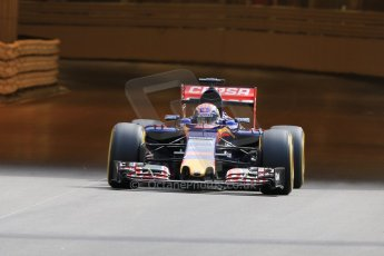 World © Octane Photographic Ltd. Scuderia Toro Rosso STR10 – Max Verstappen. Thursday 21st May 2015, F1 Practice 1, Monte Carlo, Monaco. Digital Ref: 1272CB7D2745
