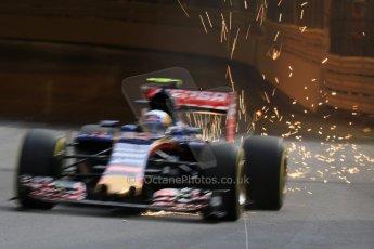 World © Octane Photographic Ltd. Scuderia Toro Rosso STR10 – Carlos Sainz Jnr. Thursday 21st May 2015, F1 Practice 1, Monte Carlo, Monaco. Digital Ref: 1272CB7D2759