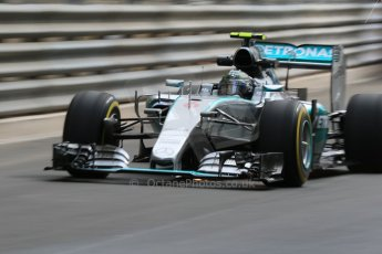 World © Octane Photographic Ltd. Mercedes AMG Petronas F1 W06 Hybrid – Nico Rosberg. Thursday 21st May 2015, F1 Practice 1, Monte Carlo, Monaco. Digital Ref: 1272CB7D2868
