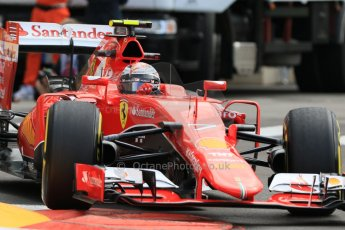 World © Octane Photographic Ltd. Scuderia Ferrari SF15-T– Kimi Raikkonen. Thursday 21st May 2015, F1 Practice 1, Monte Carlo, Monaco. Digital Ref: 1272CB7D2905