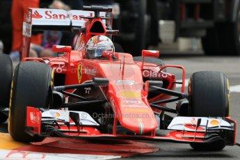 World © Octane Photographic Ltd. Scuderia Ferrari SF15-T– Sebastian Vettel. Thursday 21st May 2015, F1 Practice 1, Monte Carlo, Monaco. Digital Ref: 1272CB7D2925