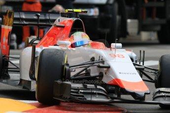 World © Octane Photographic Ltd. Manor Marussia F1 Team MR03 – Roberto Merhi. Thursday 21st May 2015, F1 Practice 1, Monte Carlo, Monaco. Digital Ref: 1272CB7D2932