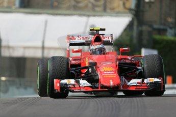 World © Octane Photographic Ltd. Scuderia Ferrari SF15-T– Kimi Raikkonen. Thursday 21st May 2015, F1 Practice 1, Monte Carlo, Monaco. Digital Ref: 1272LB1D3266