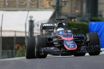 World © Octane Photographic Ltd. McLaren Honda MP4/30 – Fernando Alonso. Thursday 21st May 2015, F1 Practice 1, Monte Carlo, Monaco. Digital Ref: 1272LB1D3329