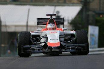 World © Octane Photographic Ltd. Manor Marussia F1 Team MR03 – William Stevens. Thursday 21st May 2015, F1 Practice 1, Monte Carlo, Monaco. Digital Ref: 1272LB1D3363