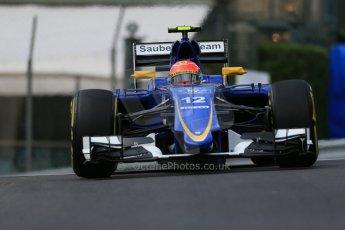 World © Octane Photographic Ltd. Sauber F1 Team C34-Ferrari – Felipe Nasr. Thursday 21st May 2015, F1 Spanish GP Formula 1 Practice 1. Monte Carlo, Monaco. Digital Ref: 1272LB1D3399