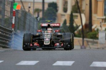 World © Octane Photographic Ltd. Lotus F1 Team E23 Hybrid – Pastor Maldonado. Thursday 21st May 2015, F1 Practice 1, Monte Carlo, Monaco. Digital Ref: 1272LB1D3539